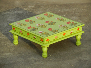 Wooden Painted Chowki Bajot
