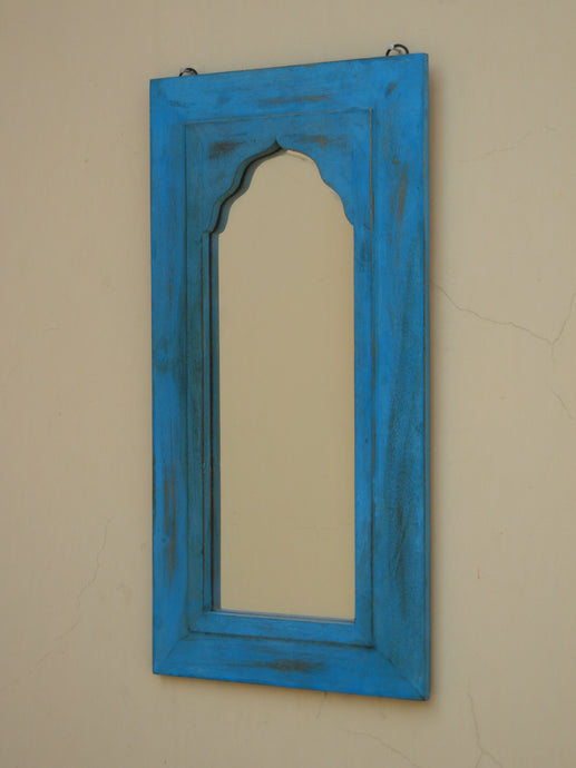 Wooden distress rustic finish mirror