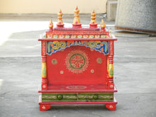 Load image into Gallery viewer, Wooden Handmade Hand Painted Multicolor Home Temple Mandir Pooja Ghar