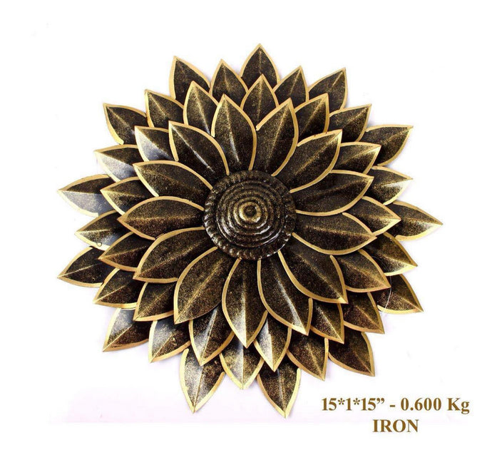 Contemporary Designer Metal Flower Floral Wall Decor Wall Hanging