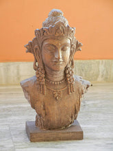 Load image into Gallery viewer, Fibre Buddha Figurine with Distress Antique Finish