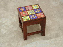 Load image into Gallery viewer, Contemporary Designer Wooden & Ceramic Nesting Stool Table Side Table - Set of 3