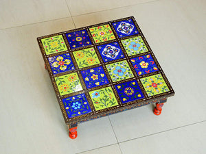 Wooden and Ceramic Tile Chowki Bajot