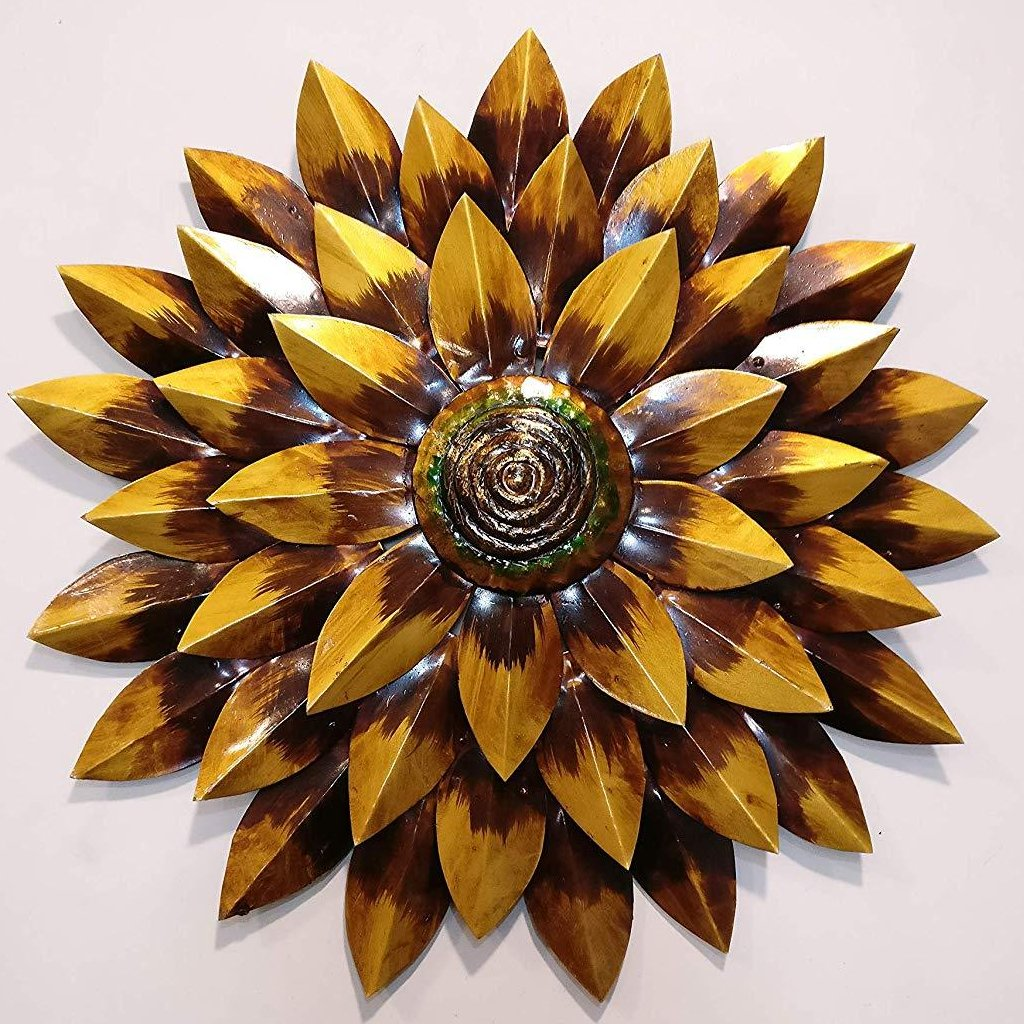 metal contemporary flower wall decor