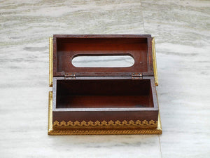 Wooden & Brass Handmade Ethnic Tissue Box