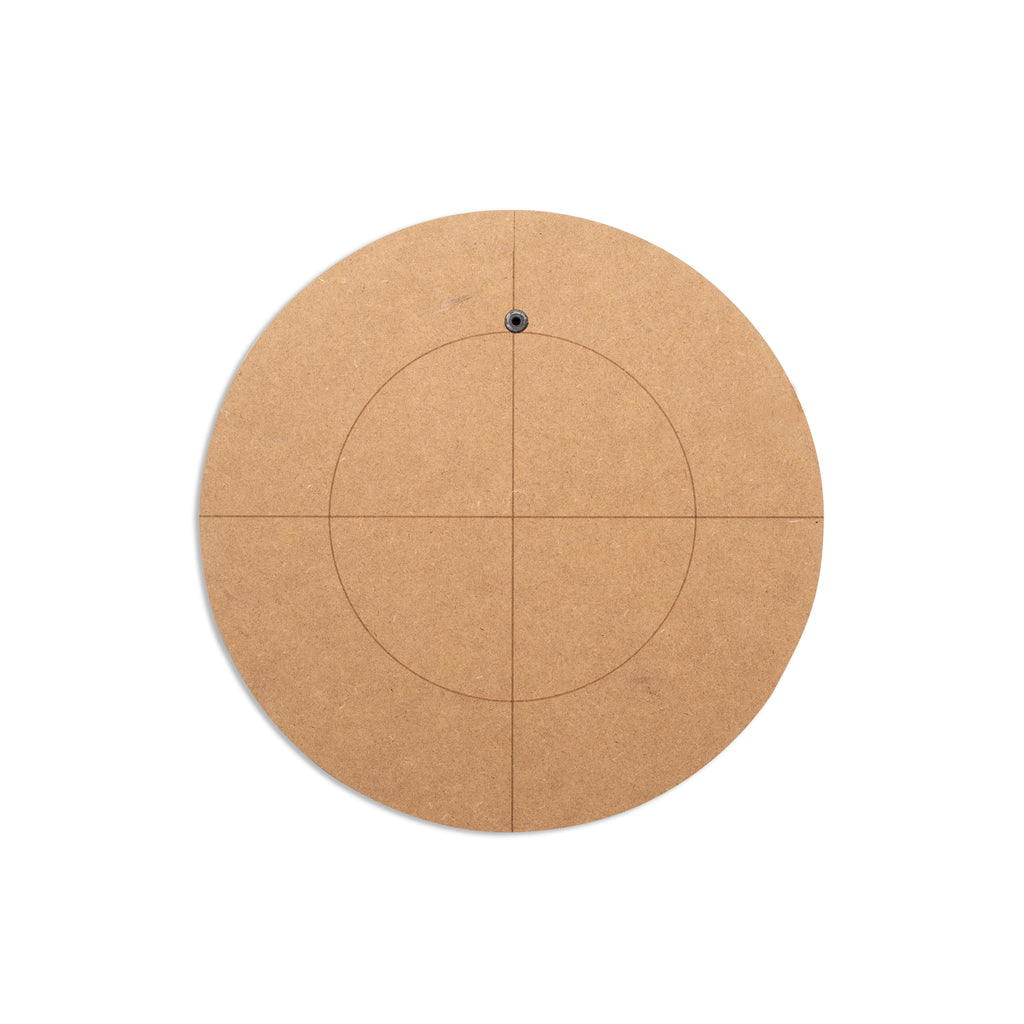 Round Shaped MDF Base 226mm - NO MIRROR