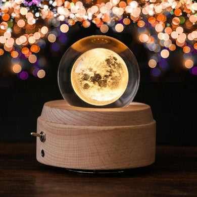 Crystal Moon Light & Music Box