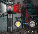 360° Rotating Magnetic Flashlight | 9000 lumen