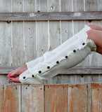 Button Down Knit Leg Warmers