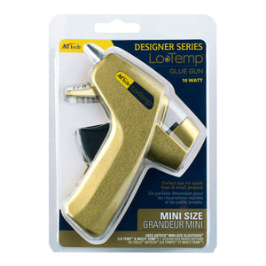 Gold Designer Series Low Temp Hot Melt Mini Glue Gun - 10 Watt