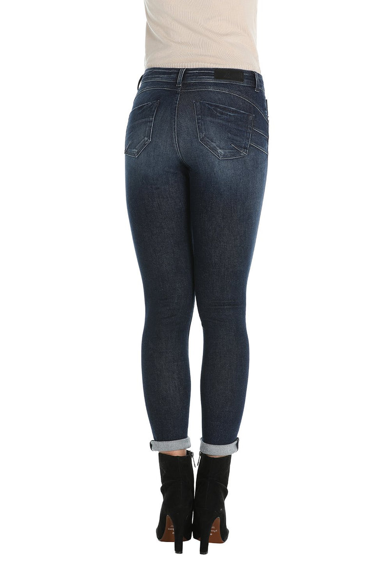 Pantalone jeans 5 tasche push up denim blue, relish fashion moda, abbigliamento femminile