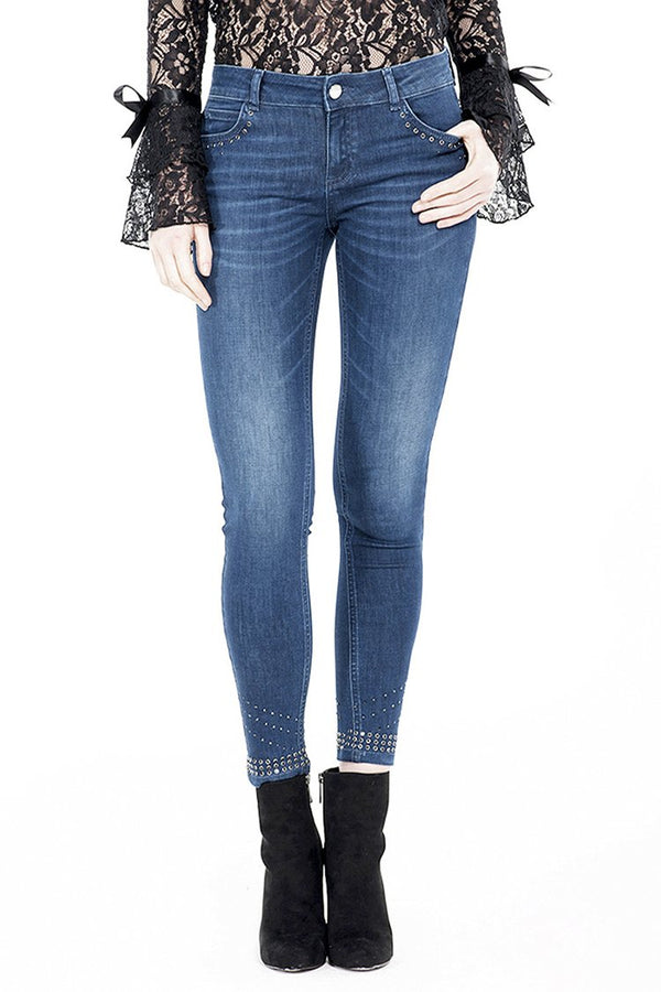 Jeans push-up  con strass in denim GINGER/I