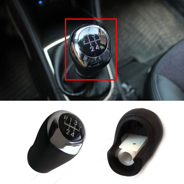 5 Speed Manual Gear Shift Knob Leather For Hyundai 2011-2014 Accent Solaris Verna I30 Oem Part