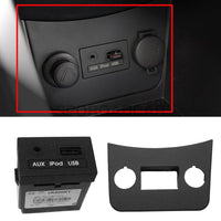 Aux Ipod Usb Jack Assy Console Bazel 2P For Hyundai 2011-2014 Accent Verna Solaris Oem Part