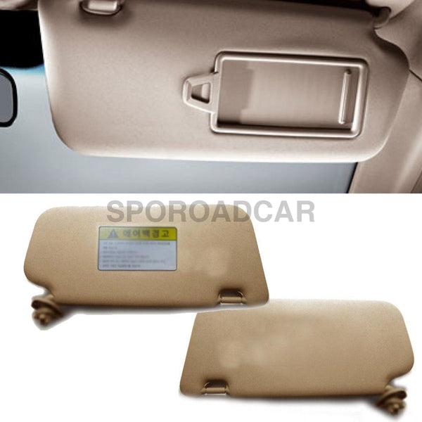 Front Inside Sun Visor Lh Rh 2P Beige For Hyundai 2006-2010 Accent Verna Oem Part 852101E020Or
