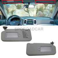 Front Inside Sun Visor Lh Rh 2P Gray For Hyundai 2006-2010 Accent Verna Oem Part 852101E020Qs