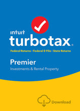 Load image into Gallery viewer, TurboTax Premier 2017 for Windows and MacOS Download