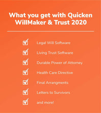 Load image into Gallery viewer, Quicken WillMaker Trust 2020 Retail for Windows