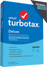 Load image into Gallery viewer, TurboTax Deluxe 2020 Download for Windows and MacOS