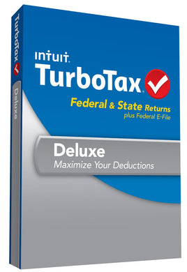 Turbotax 2013 Deluxe Federal and State Windows and MacOS Download