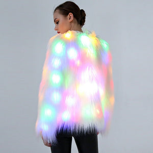 Faux Fur LED Festival Coat