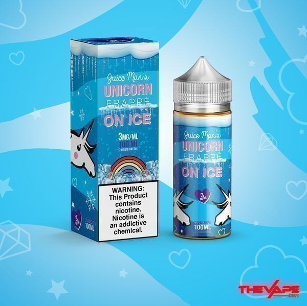 E-Liquid 3 mg Juice Man - Unicorn Frappe On Ice - 100ml