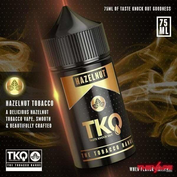 TKO - Hazelnut Tobacco - 75ml - The Vape Den