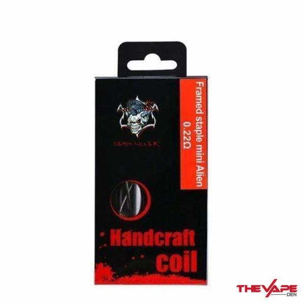 Demon Killer Handcraft Coil Framed Staple Mini Alien - The Vape Den