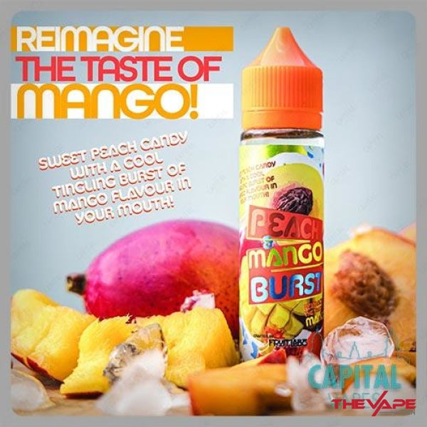 Fruit Labz - Peach & Mango Burst - 120ml - The Vape Den