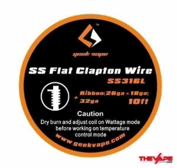 GeekVape - Flat Clapton Wire - 10ft - The Vape Den