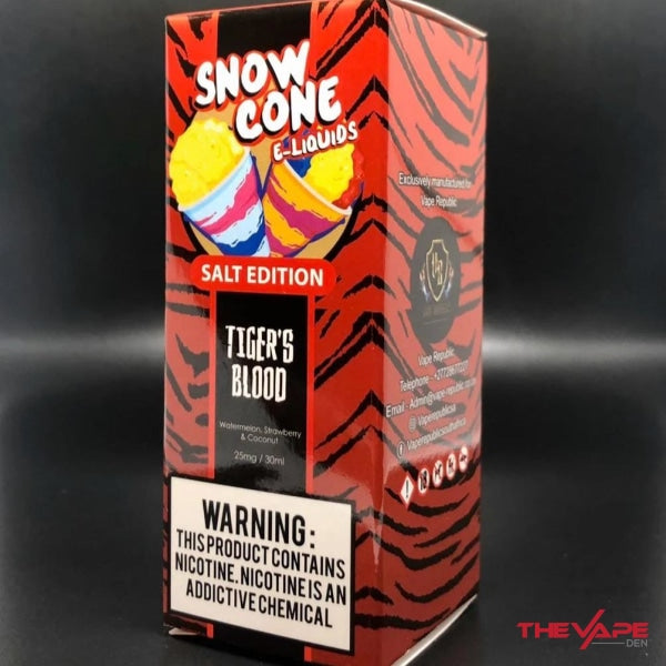 Snow Cone - Tigers Blood MTL - 30ml - The Vape Den