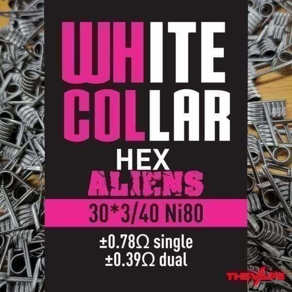 White Collar - Hex Aliens - 30*3/40 - The Vape Den