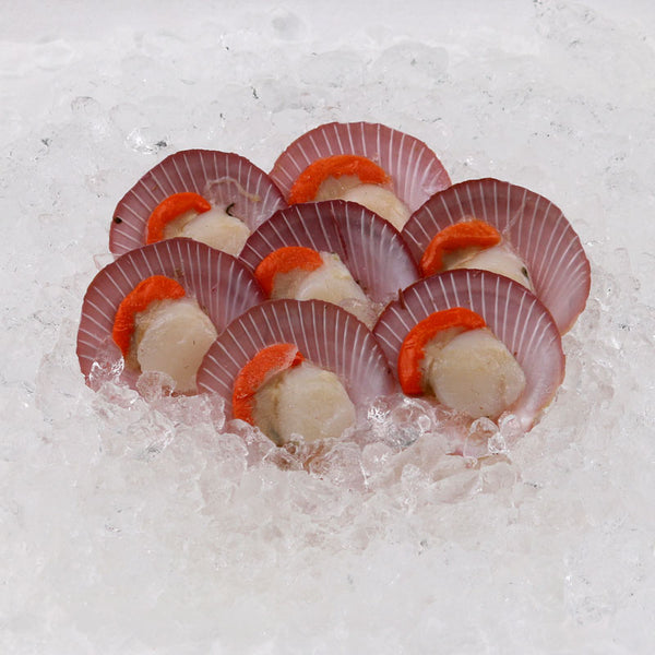 {Overseas Seafood} Half Shell Scallop with Roe