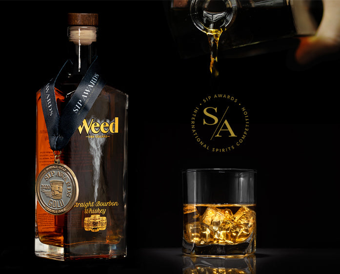 Weed Straight Bourbon Whiskey SIP Award Double Gold