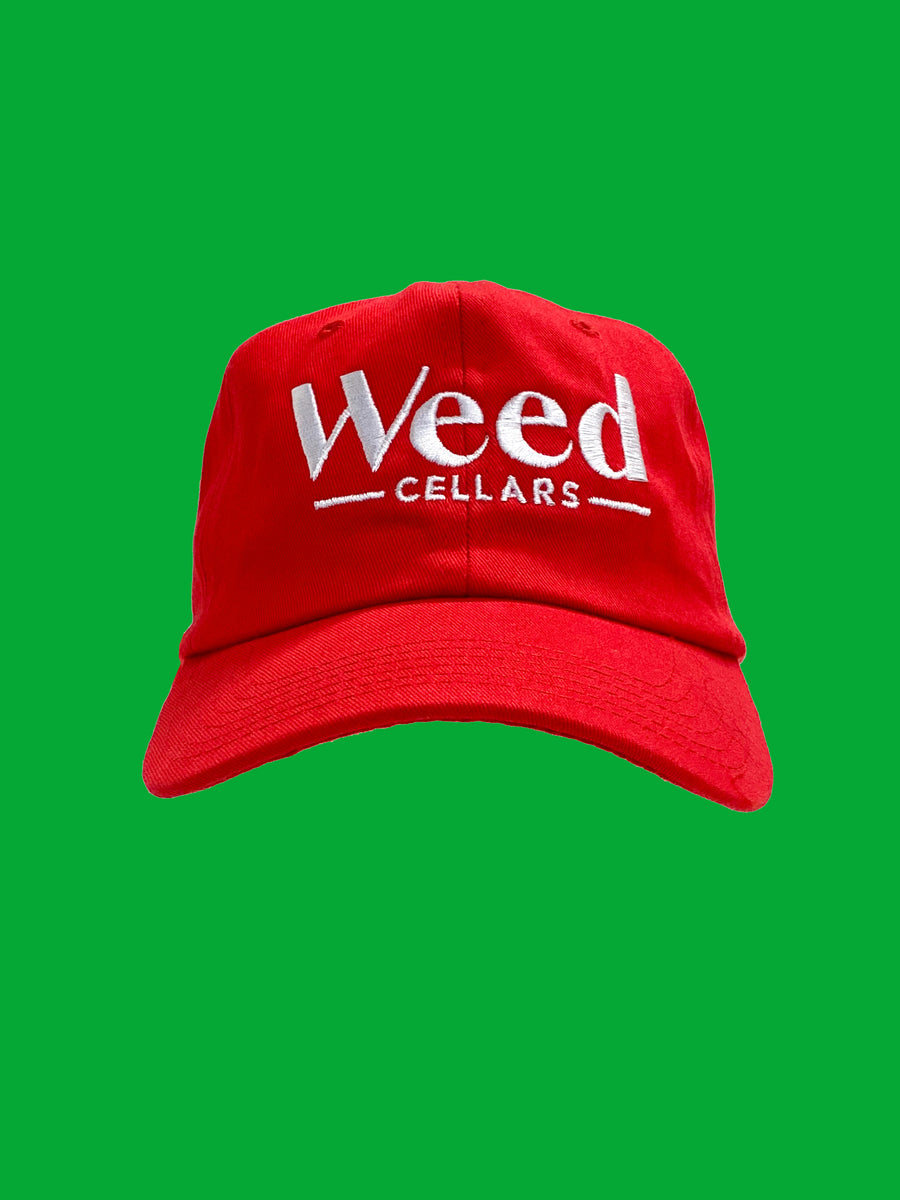 Weed Cellars  Baseball Cap - Red/White