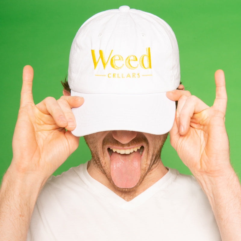 Weed Cellars Baseball Cap - White/Yellow - Weed Cellars, Inc.