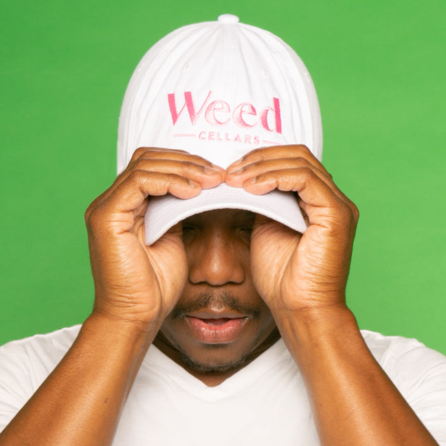 Weed Cellars Baseball Cap - White/Pink - Weed Cellars, Inc.