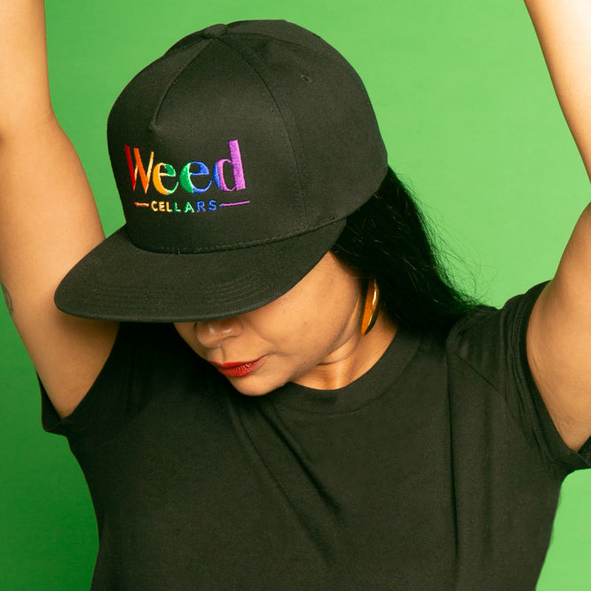 Weed Cellars Snapback Hat - Black