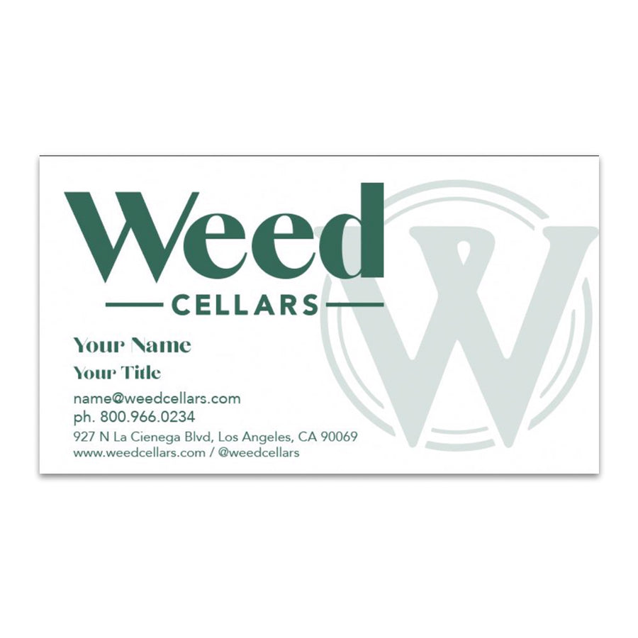 Business Cards - Weed Cellars, Inc.