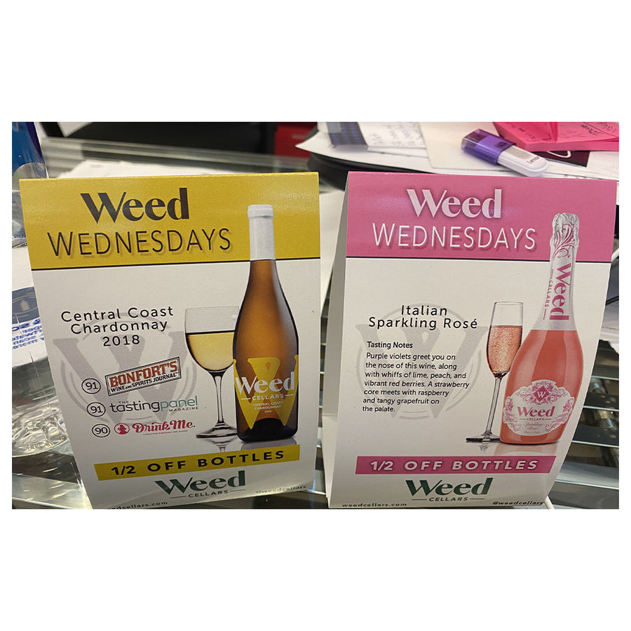 Table Tents - Weed Cellars, Inc.