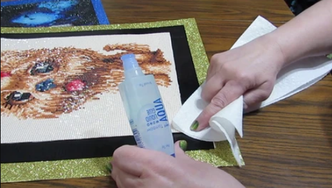 Diamond Painting Canvas Cleaning
