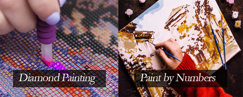 Diamond Painting Vs Paint by numbers