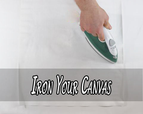 Iron your canvas