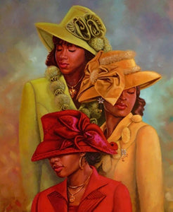 African American Church Hats Diamond Painting