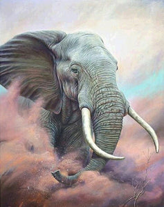 African Bull Elephant Paint by Diamonds