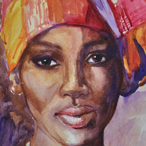 African Lady Paint by Diamonds