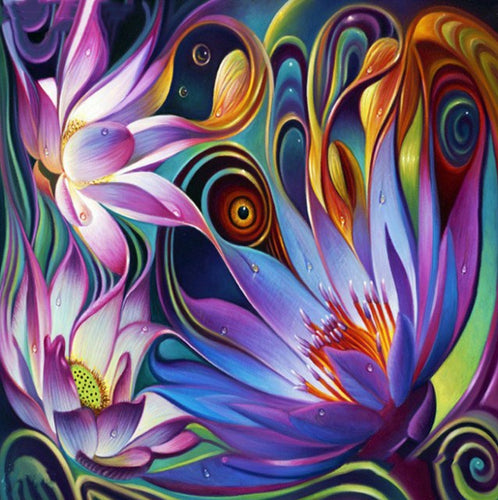 Amazing Lotus Art Diamond Painting Kit