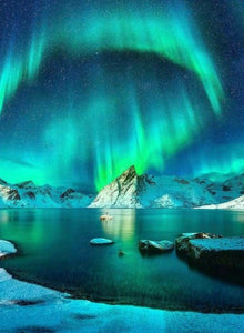 Amazing Polar Lights Paint by Diamonds