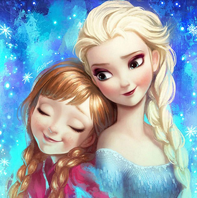 Anna & Elsa Paint by Diamonds