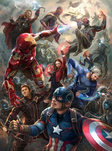 Avengers Age of Ultron Paint by Diamonds